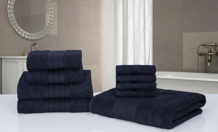 Pile de 9 ou 18 serviettes, coloris au choix dès 27.99 € (jusqu'à 59% de réduction)