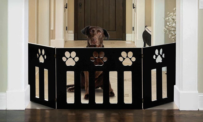 Adjustable Pet Gates: Adjustable Pet Gate with Paw or Bone Detailing (Up to 81% Off). Free Shipping and Free Returns.
