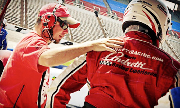Mario Andretti Racing Experience - Auto Club Speedway: 3-Lap Ride-Along or 3-Hour Driving Experience in Indy-Style Cars from Mario Andretti Racing Experience (Up to 51% Off)