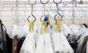 Green Wave Cleaners: Dry Cleaning for 10 Garments at Green Wave Cleaners (Up to 70% Off). Three Options Available.