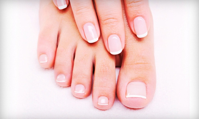 Body Beautiful Of New York, Inc. - New Canaan: Shellac French Manicure with Optional Spa Pedicure at Body Beautiful of New York, Inc. (Up to 59% Off)