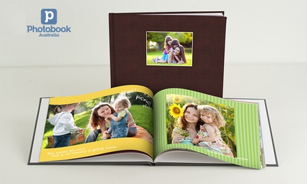 for a Leather Debossed Hardcover 40Page Personalised Photo Book, Redeemable Online Don't Pay Up to $114.95