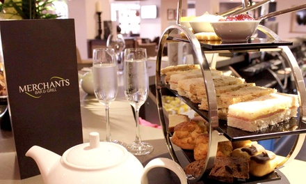 Afternoon Tea for Two or Four with a Glass of Bubbly Each at Samlesbury Hotel (44% Off)