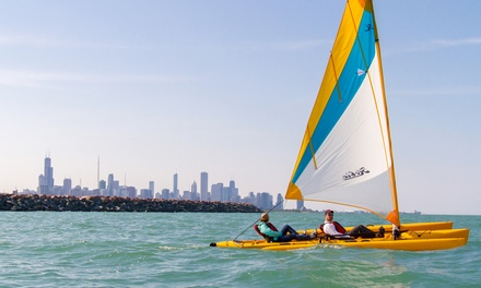Two-Hour Rental for a Single or Tandem Sailing Kayak at Chicago Water Sport Rentals (Up to 51% Off)
