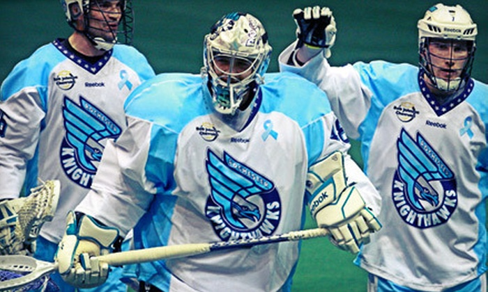Rochester Knighthawks - Blue Cross Arena: Rochester Knighthawks Lacrosse Game at Blue Cross Arena on Saturday, April 6 (Up to 51% Off). Two Options Available.