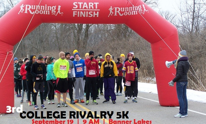 Indianola High School DECA - Indianola: $16 for Entry for One to College Rivalry 5K on September 19, 2015 (43% Off)