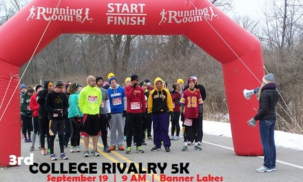 $16 for Entry for One to College Rivalry 5K on September 19, 2015 (43% Off)