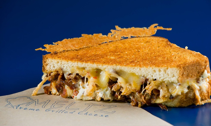 Meltz Extreme Grilled Cheese - Fairway Meadows: $14 for Two Groupons, Each Good for $10 Worth of Menu Items at Meltz Extreme Grilled Cheese ($20 Value)