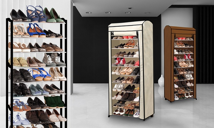 Groupon Goods Global GmbH: 50 Pairs Shoe Rack With Cover From £18.99 ...