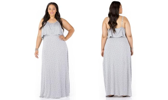 plus-size women's maxi dress | groupon goods