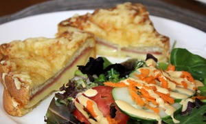 La Petite France: French Lunch or Crepe-Cart or Café Rental from La Petite France (Up to 55% Off). Four Options Available.