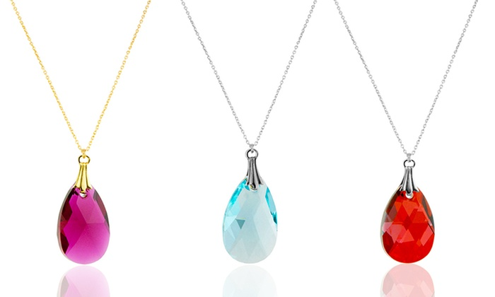 Pendant Necklaces with Swarovski Elements: Pendant Necklaces with Swarovski Elements. Multiple Designs Available. Free Shipping.