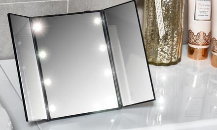 1 o 2 espejos trípticos con 8 luces LED