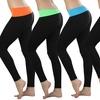 Women's Fold-Over Waist Slimming Leggings (3-Pack)