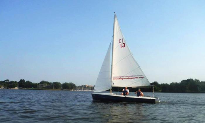 Washington Sailing Marina - Washington Sailing Marina: Intro to Sailing Class for One or Two or a Family of Four at Washington Sailing Marina (Up to 54% Off)