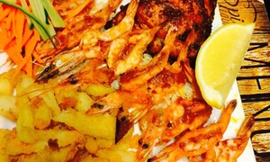 The Spice lounge: Quarter Chicken and 10 Prawns with Sides for Two for R150 at The Spice Lounge