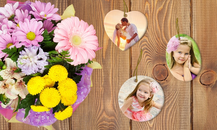 Picture it on Canvas: 2, 3, 5, or 10 Customized Ceramic or Metal Ornaments from Picture it on Canvas (Up to 88% Off)