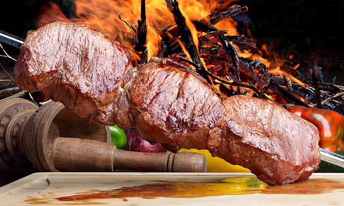 Heaven's Taste - Peabody Town Center: Brazilian Steak-House Dinner for Two or Four with Dessert at Heaven's Taste (Up to 46% Off)