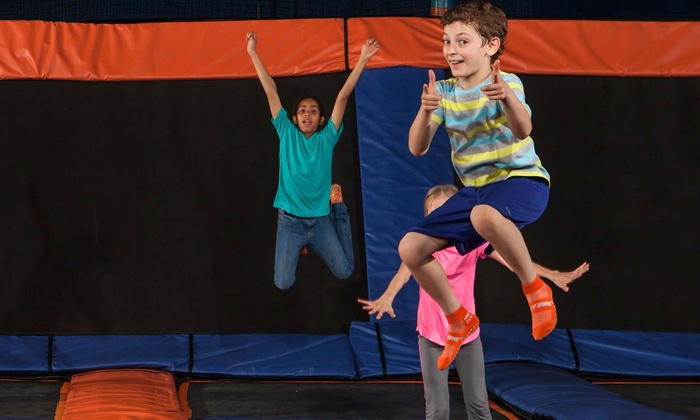 Sky Zone Des Moines - Sky Zone Des Moines: One Hour of Open-Jump Time for Two with Reusable SkySocks at Sky Zone Des Moines (Up to 45% Off). Two Options.