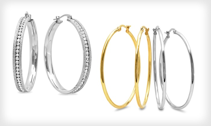 Hoop and Huggie Earrings: Hoop and Huggie Earrings (Up to 92% Off). 18 Styles Available.