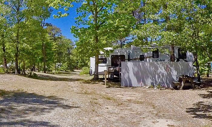 Atlantic Oaks Campground - Atlantic Oaks Campground: Two-Night Stay with an Optional 30-Amp or 50-Amp Electric Hookup at Atlantic Oaks Campground (Up to 35% Off)