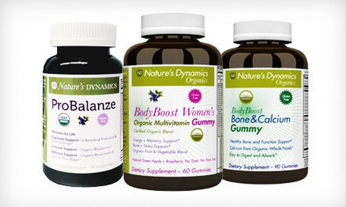 Nature's Dynamics: Nature's Dynamics Gummy-Vitamin Bundles for Children, Women, or Men (Up to 70% Off). Free Shipping.