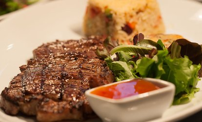 image for Two-Course Steak or Seafood Meal with Hot Drink for Two, Four or Six (Up to 52% Off)