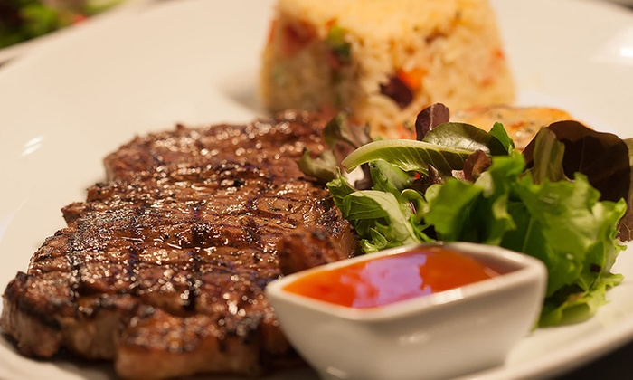 1573 Bar & Grill - Leicester: Two-Course Steak or Seafood Meal with Hot Drink for Two, Four or Six (Up to 52% Off)