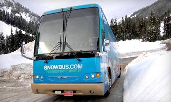 Snowbus - Multiple Locations: One-Way Transportation Between Whistler and Vancouver for Two or Four Adults from Snowbus (Up to 54% Off)
