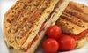 Euphorium Bakery & Cafe - Victoria: Panini Lunch with Coca-Cola and Ice Cream for Two or Four at Euphorium Bakery (Up to 60% Off)
