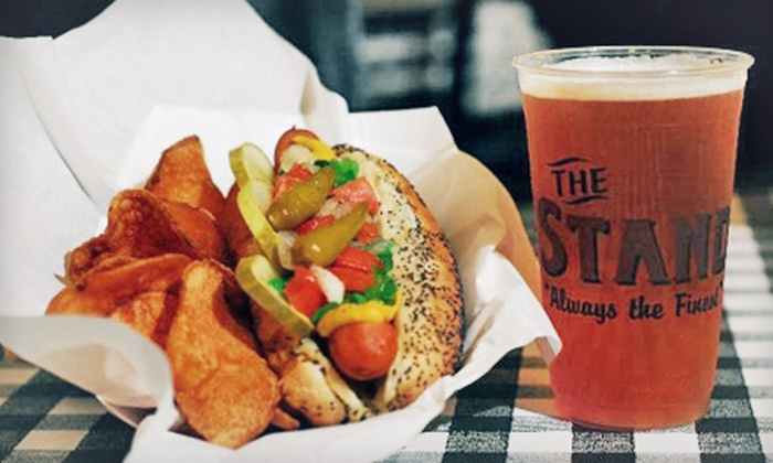 The Stand - Woodland Hills: $13 for $26 Worth of Hot Dogs, Burgers, Sausages, and American Food at The Stand
