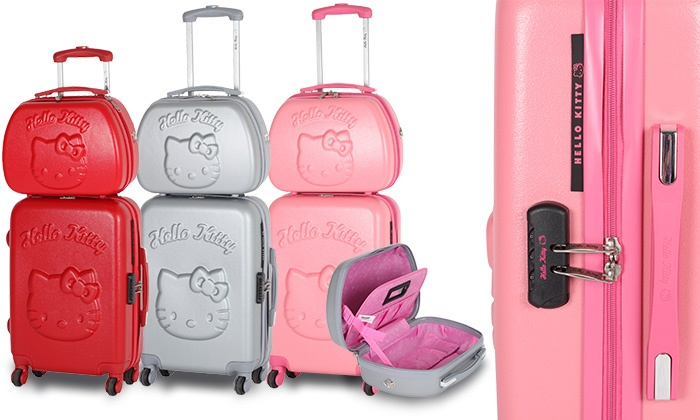 valise cabine et vanity hello kitty groupon shopping. Black Bedroom Furniture Sets. Home Design Ideas