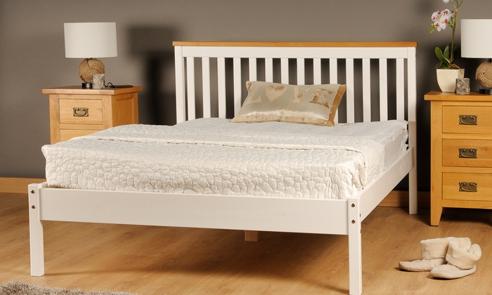 Medina Wooden Bed with Optional Mattress