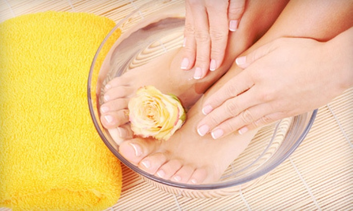 Nail Studio - Dedham: One or Two Diva Treatment Mani-Pedis with Paraffin Dip and Hot-Stone Massage at Nail Studio (Up to 57% Off)