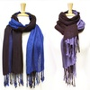 K&J Two-Tone Double-Layer Scarves
