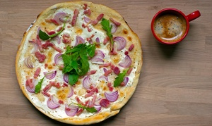 Sauce Italian And Mexican: One Large Thin-Crust Pizza at Sauce Italian and Mexican (44% Off)