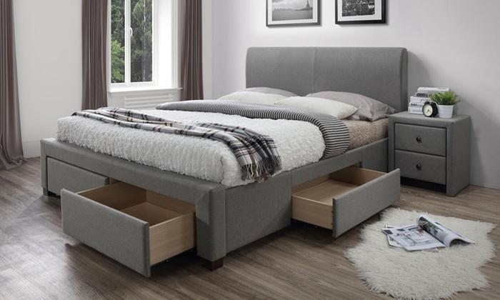 bis zu 58 rabatt bett mit lattenrost u schubk sten groupon. Black Bedroom Furniture Sets. Home Design Ideas
