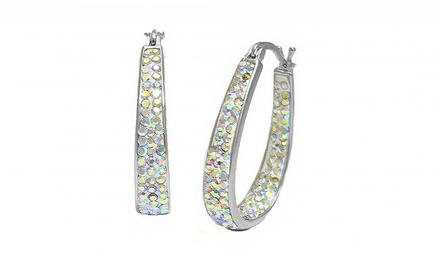 Crystal Hoop Earrings with Swarovski Elements