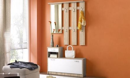 Set di mobili da ingresso disponibile in 2 colori