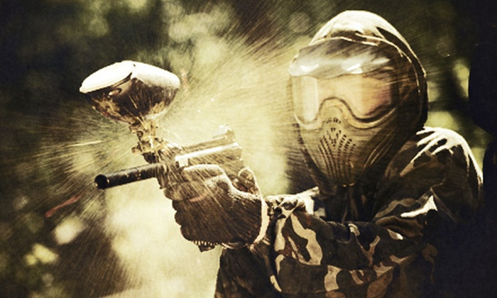 North East Adventure Paintball - North East - Cecil County: $29 for All-Day Paintball Session with Equipment Rental for Up to Six at North East Adventure Paintball ($195 Value)