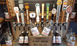 Stony Brook Beverage: One or Two Growlers with Refill and Beer Tasting at Stony Brook Beverage (Up to 48% Off)