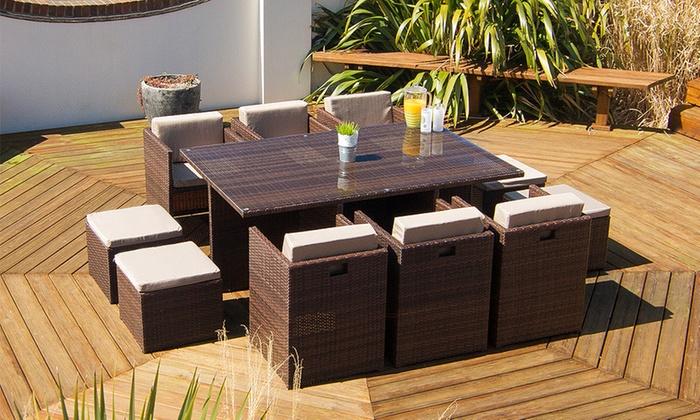 groupon goods global gmbh rattan effect garden furniture from 29999 with free delivery