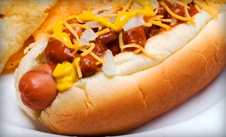 $10 for Two $10 Groupons for Hot Dogs and Burgers at Papaya Joe's ($20 Total Value)