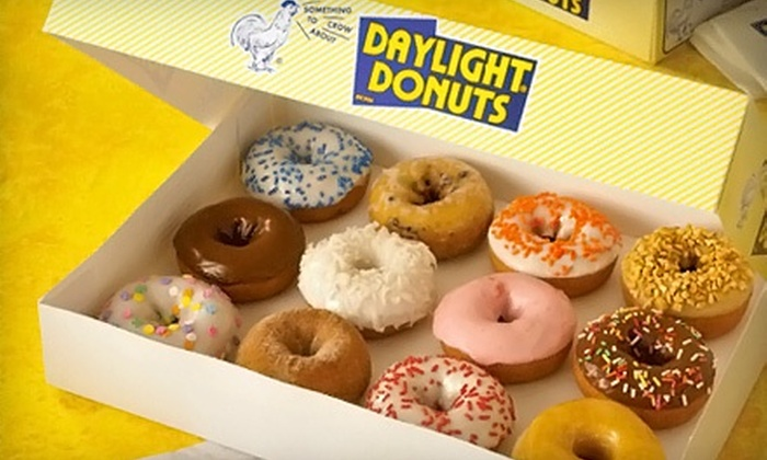 Daylight Donuts - Southbelt/ Ellington: One or Three Vouchers, Each Good for One Dozen Donuts or House Mix Donuts at Daylight Donuts (Half Off)