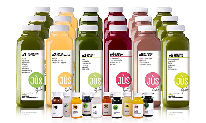 Jus by Julie: Juice Cleanse with Option for Booster Shots from Jus by Julie ( 34% Off ). Eight Options Available.