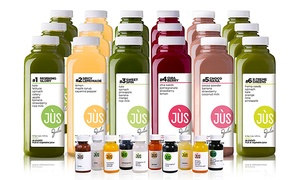 Jus by Julie: One-, Three- or Five-Day Juice Cleanse with Options for 12 Booster Shots from Jus by Julie (Up to 41% Off)