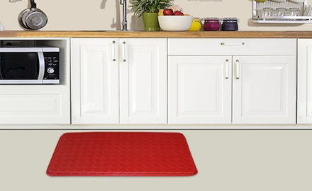 "groupon daily deal - 18"" x 30"" Anti-Fatigue Kitchen Mat. Multiple Colors. Free Returns."
