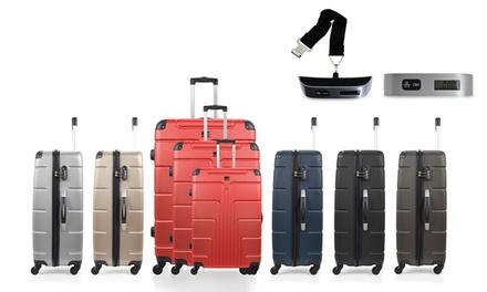 Set di 3 valigie Ottawa e pesa valigie modello Bluestar, Free scale e Ottawa disponibili in vari colori a 119,90 €