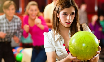 Two Games of Bowling and Shoe Rentals for Two, Four, or Six at Strikers Family Sportscenter & Bowling (Up to 53% Off)