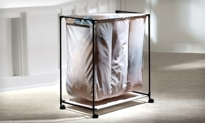 Triple Laundry Sorter with Cover: $24 for a Triple Laundry Sorter with Cover ($44.99 List Price). Free Shipping and Free Returns.